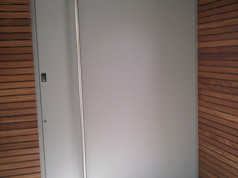 Porte d'entrée design minimalist Aluminium