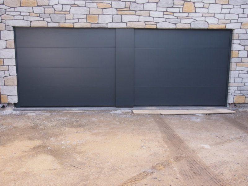 Double porte de garage sectionnelle Liège