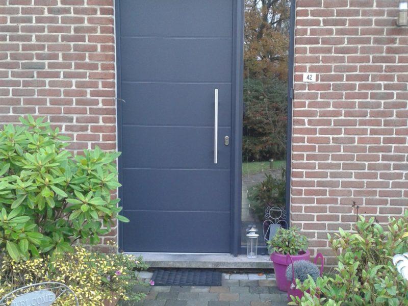 Remplacement de porte d'entrée Aluminium à Liège