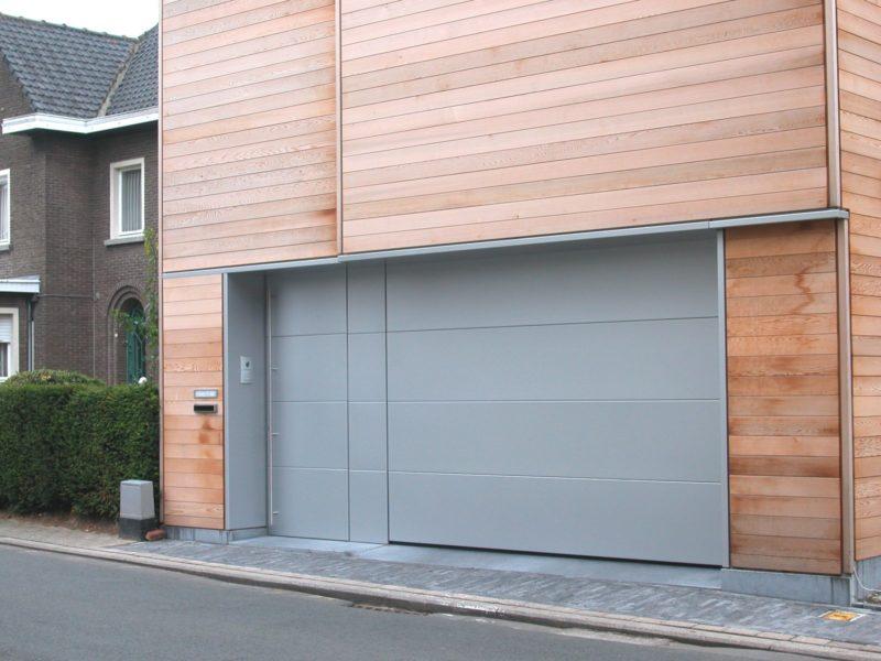 Porte de garage sectionnelle design à Malmédy