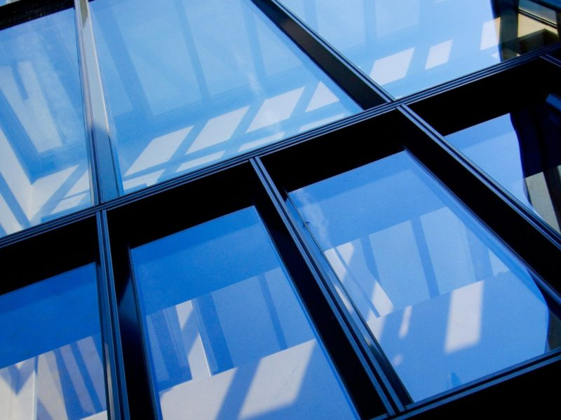 Alu Fenster -Haus Glasfassade