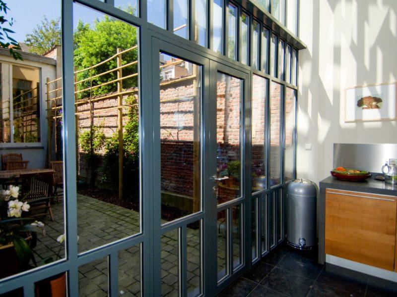 mur-rideau aluminum maison Liège