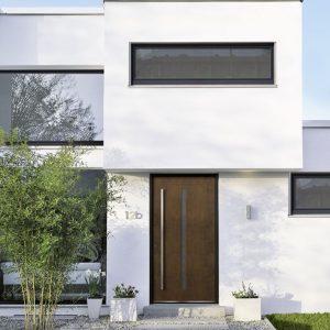 Haustür aus Cortenstahl St-Vith ( Lüttich)