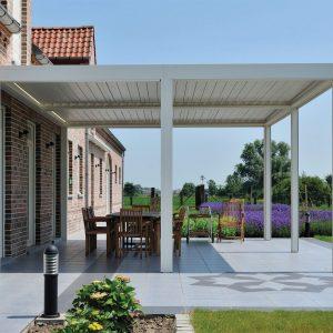 toiture de terrasse à lames orientables