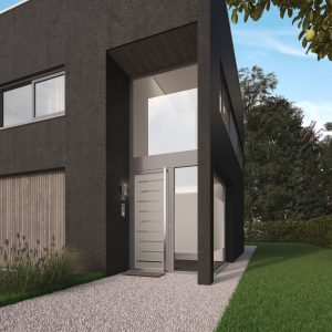 Moderne Haustür mit Glas