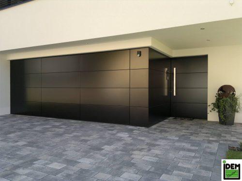 Porte de garage intégrée de la marque Idem - Trudoor