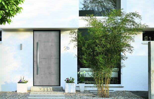 Haustüren mit Betonoptik