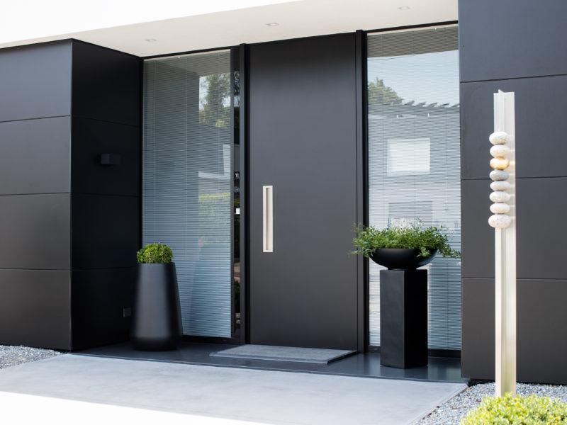 Porte d'entrée moderne aluminium Liège